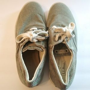 L.L. Bean Sunwashed Canvas Sneakers Women's